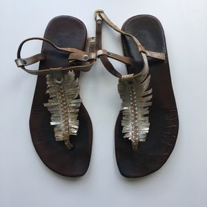 Free People Fringe Leather Sandals
